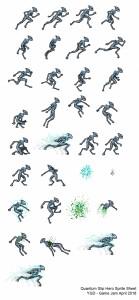 Quantum Slip Hero Sprite Sheet - YGD Jam 2016