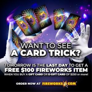 Phantom Fireworks Gift Card Trick Promo