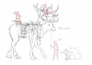 Wastelk and Dune Shrews Concept Sketch