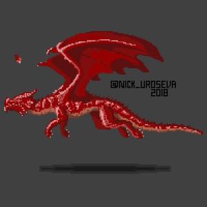 Red Dragon Pixel Art Test
