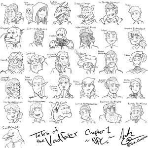 Tales of the Voidfarer - NPC Doodles