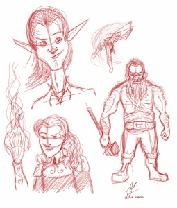 Fantasy Character Sketches